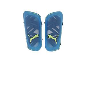Puma Ultra Light Strap - Espinilleras de fútbol Puma con cintas de velcro - azules - frontal