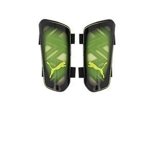 Puma Ultra Light Strap - Espinilleras de fútbol Puma con cintas de velcro - amarillas y negras - frontal