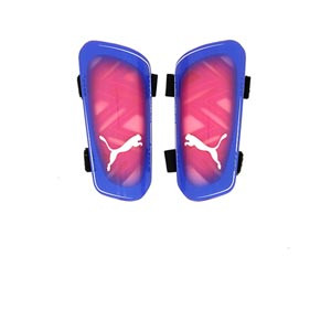 Puma Ultra Light Strap - Espinilleras de fútbol Puma con cintas de velcro - azules, rosas