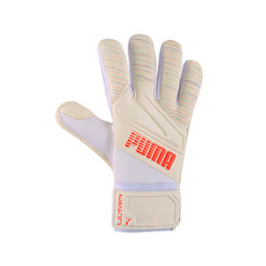 Puma Ultra Grip 1 RC - Guantes de portero Puma corte Regular Cut - blancos - frontal