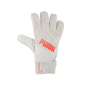 Puma Ultra Grip 4 RC - Guantes de portero Puma corte Regular Cut - blancos - frontal