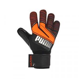 Puma Ultra Protect 2 RC - Guantes de portero con protecciones Puma corte positivo - negros y naranjas - frontal derecho