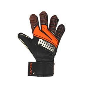 Puma Ultra Protect 3 RC - Guantes de portero con protecciones Puma Regular Cut - negros y naranjas - frontal derecho