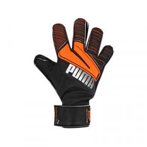 Puma Ultra Protect 3 Jr RC - Guantes de portero infantiles con protecciones Puma corte positivo - negros y naranjas - frontal derecho