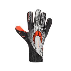 HO Soccer Phenomenon Magnetic 2 - Guantes de portero profesionales HO Soccer corte Negative - negros y naranjas - frontal derecho