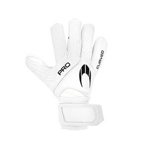 HO Soccer Pro Curved Gen XI - Guantes de portero HO Soccer corte Flat - blancos - frontal derecho