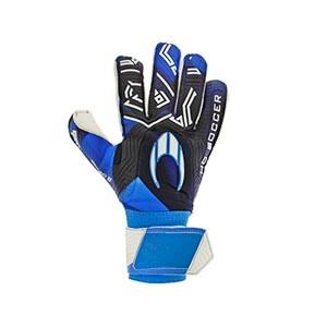 HO Soccer SSG Eskudo 2 - Guantes de portero HO Soccer corte Roll/Negative - azules - frontal derecho