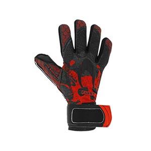 HO Soccer First Superlight - Guantes de portero HO Soccer corte Negative - negros y rojos - frontal derecho