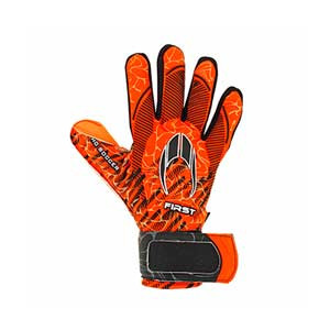 HO Soccer First Superlight - Guantes de portero HO Soccer corte Negative - naranjas - frontal derecho