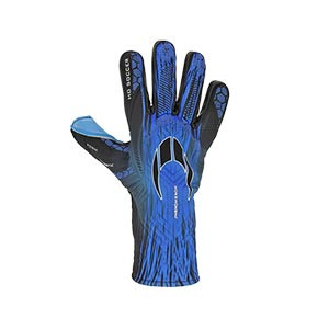 HO Soccer Phenomenon Magnetic 2 - Guantes de portero profesionales HO Soccer corte Negative - azules - completa dorso mano derecha