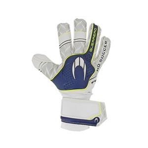 HO Soccer Guerrero Pro Negative - Guantes de portero HO Soccer corte Negative - blancos y azules - completa dorso mano derecha