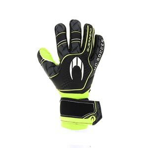 HO Soccer Premier Guerrero Negative - Guantes de portero HO Soccer corte Negative - negros y amarillos - completa dorso mano derecha