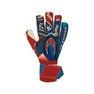 HO Soccer SSG Eskudo 2 Roll/Negative - Guantes de portero HO Soccer corte Roll/Negative - rojos y azules - completa dorso mano derecha