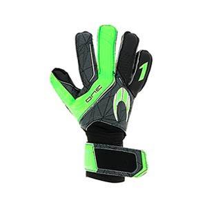 HO Soccer One Negative - Guantes de portero HO Soccer corte Negative - negros y verdes - completa dorso mano derecha