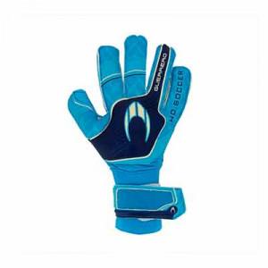 HO Soccer Premier Guerrero - Guantes de portero HO Soccer corte Roll/Negative - azules cian