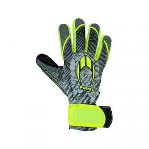 HO Soccer First Superlight - Guantes de portero HO Soccer corte Negative - grises, amarillos flúor