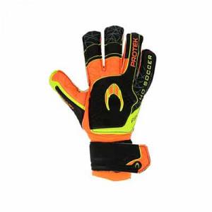 HO Soccer Primary Protek - Guantes de portero con protecciones HO Soccer corte Flat - negros, naranjas