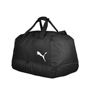 Bolsa deporte con zapatillero Puma Training mediana - Bolsa entrenamiento fútbol con zapatillero Puma (58 x 36 x 31) cm - negra - frontal