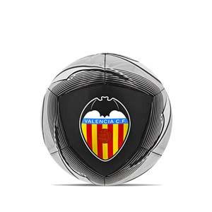 Balón Puma Valencia CF Icon talla 5 - Balón de fútbol Puma del Valencia CF 2020 2021 de talla 5 - negro y blanco - frontal