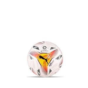 Balón Puma LaLiga 1 Accelerate 2021 2022 talla mini - Balón de fútbol Puma de La Liga española LFP 2021 2022 talla mini - blanco - completa frontal