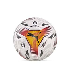Balón Puma LaLiga 1 Accelerate 2021 2022 FIFA Pro talla 5 - Balón de fútbol Puma de La Liga española LFP 2021 2022 talla 5 - blanco - completa frontal