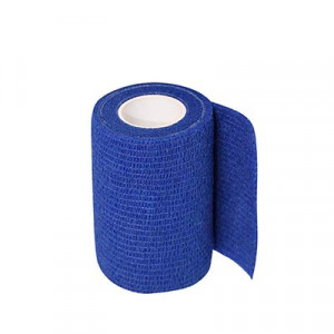 Uhlsport Tube It Tape 7,5 cm - Esparadrapo sujeta espinilleras Uhlsport 7,5 cm - azul - frontal