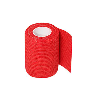 Uhlsport Tube It Tape 7,5 cm - Esparadrapo sujeta espinilleras Uhlsport (7,5 cm x 4 m) - rojo - frontal
