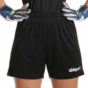 Short Uhlsport mujer Center Basic - Pantalón corto de portero para mujer Uhlsport - negro