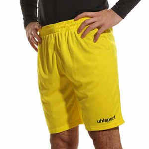 Short portero Uhlsport Center Basic - Pantalón corto de portero Uhlsport - amarillo - frontal