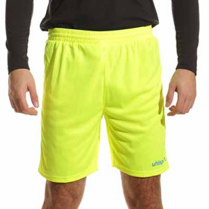 Short portero Uhlsport Center Basic - Pantalón corto de portero Uhlsport - amarillo flúor - frontal