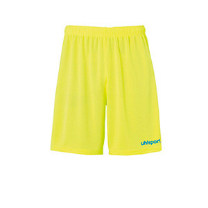 Short portero Uhlsport niño Center Basic - Pantalón corto de portero infantil Uhlsport - amarillo flúor - frontal