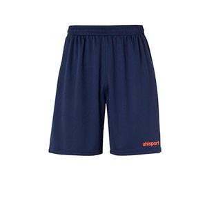 Short portero Uhlsport niño Center Basic - Pantalón corto de portero infantil Uhlsport - azul marino - frontal