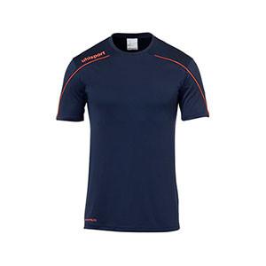 Camiseta portero Uhlsport niño Stream - Camiseta de manga corta de portero infantil Uhlsport - azul marino - frontal