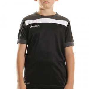 Camiseta Uhlsport Offense 23 niño - Camiseta de manga corta de portero infantil Uhlsport - negra - completa frontal
