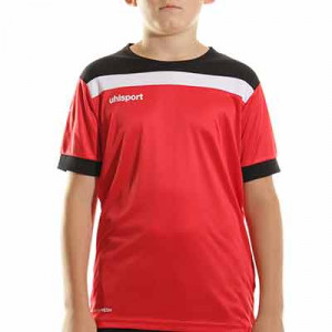 Camiseta Uhlsport Offense 23 niño - Camiseta de manga corta de portero infantil Uhlsport - roja - completa frontal