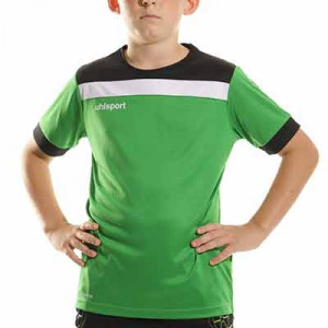 Camiseta Uhlsport Offense 23 niño - Camiseta de manga corta de portero infantil Uhlsport - verde - completa frontal