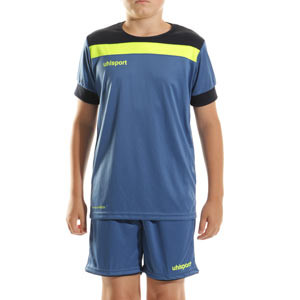 Equipación Uhlsport Offense 23 portero niño - Conjunto infantil de portero Uhlsport - azul - completa frontal