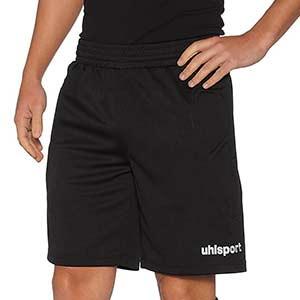 Pantalón portero uhlsport Sidestep  - Short portero acolchado uhlsport - negro - frontal