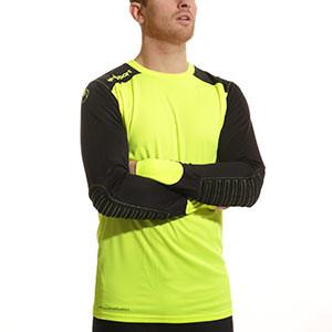 Camiseta portero Uhlsport - Camiseta portero manga larga Uhlsport - Negro / Amarillo - frontal