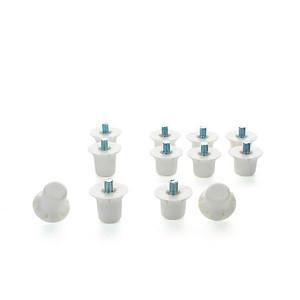 Tacos plástico botas Uhlsport cilíndricos - Tacos recambio nylon universales para botas SG (4 uds x 16 mm y 8 uds x 13 mm) - conjunto