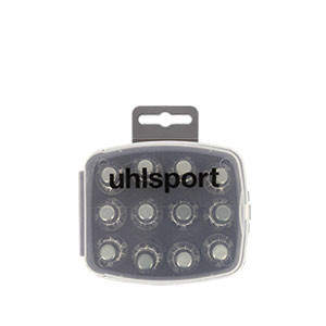 Tacos Uhlsport Aluminio Nylon 13/16 mm - 12 uds (8x13 mm y 4x16 mm) de tacos de aluminio de repuesto para botas Nike, Puma, New Balance,... - frontal