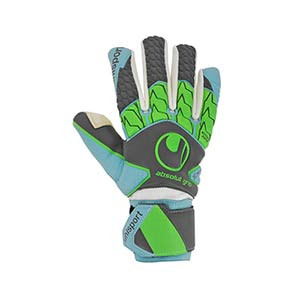 Uhlsport Absolutgrip Tight HN - Guantes de portero de mujer Uhlsport corte Half Negative - Gris / Azul - frontal