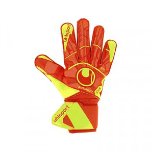 Uhlsport Dynamic Impulse SuperSoft - Guantes de portero Uhlsport corte clásico - naranjas y amarillos - frontal derecho
