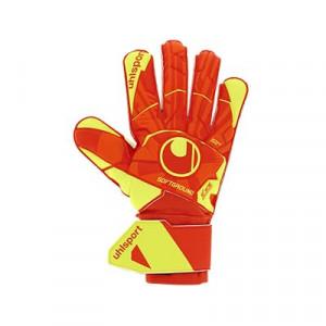 Uhlsport Dynamic Impulse Soft Pro - Guantes de portero Uhlsport corte clásico - naranjas y amarillos - frontal derecho