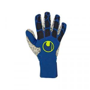 Uhlsport Hyperact Supergrip+ Finger Surround - Guantes de portero profesionales Uhlsport corte Finger Surround - azules marino