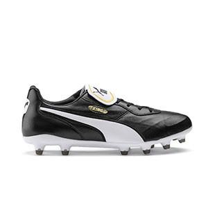 Puma King Top FG - Bota de fútbol piel canguro Puma FG césped natural o artificial última generación - negras - pie derecho