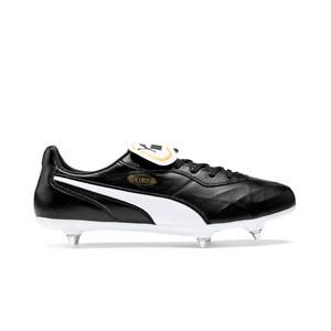 Puma King Top SG - Botas de fútbol piel canguro Puma SG césped natural blando - negras