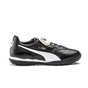 Puma King Top TT - Zapatillas de fútbol multitaco de piel de canguro Puma suela turf - negras - pie derecho