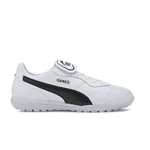 Puma King Top TT - Zapatillas de fútbol multitaco de piel de canguro Puma suela turf - blancas - pie derecho