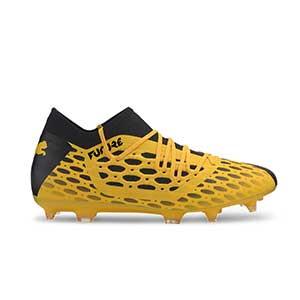 Puma Future 5.3 FG/AG - Botas fútbol Puma FG/AG césped natural o artificial - amarillas y negras - pie derecho